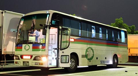 西武観光バス「Lions Express」 1410 下松SA休憩中