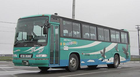 斜里バスの定期観光バス「夜の大自然号」乗車記