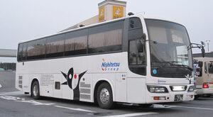 西鉄高速バス「さぬきEXP福岡号」 3802 壇ノ浦パーキングエリアにて 201005