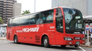 JR九州バス「たいよう」8450 宮崎駅にて