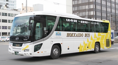 北海道バス「函館特急ニュースター号」に3列シート車導入!