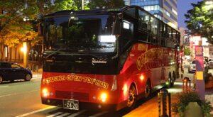 西鉄「ふくおかオープントップバス」 夜景コース 福岡市役所到着