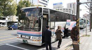 伊予鉄道「キララエクスプレス」・・95 福山駅前到着