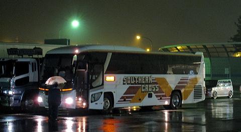 南海バス「サザンクロス」長岡線 草津SA休憩中