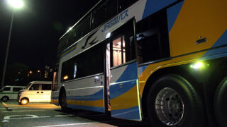 JR四国バス「ドリーム高松2号」淡路島南PAにて