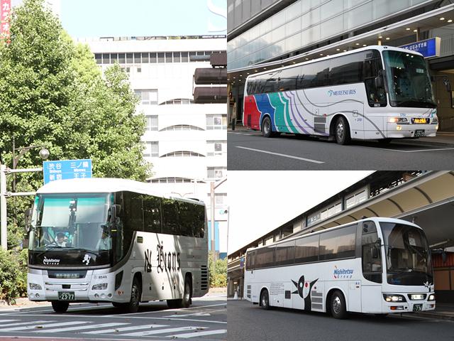 プロフィールページ バス画像 その1(西鉄高速ライオンズEXP・名鉄バス松山線・西鉄高速高松線)