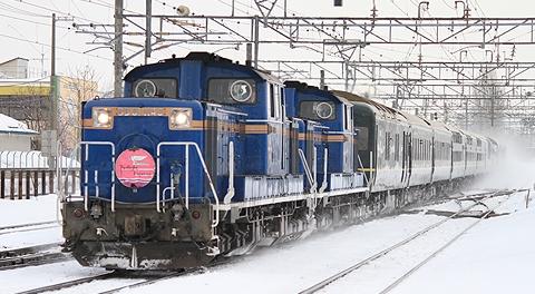 JR西日本「トワイライトEXP」DD51(H23.2.19 苗穂にて)