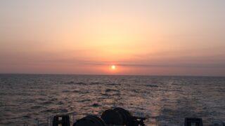 太平洋フェリー「新いしかり」  3日目 間もなく日の出