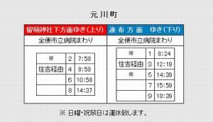 てんてつバス 元川町 時刻表