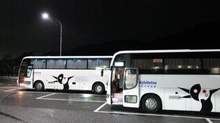 西鉄高速バス「さぬきEXP福岡号」 粒江PAにて(H26.08.16)