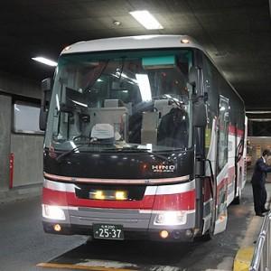 北海道中央バス「高速はこだて号」2537 札幌駅到着