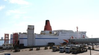 商船三井フェリー「さんふらわあ ふらの」 苫小牧西港FTにて