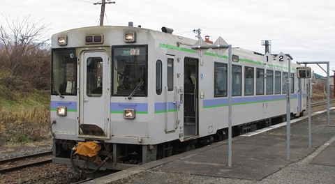 JR北海道 キハ150-10 根室本線 「快速狩勝」 山部駅にて その2