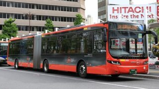 新潟交通「萬代橋ライン」連接バス ・・・3 新潟駅前にて
