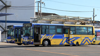 近鉄バス 阪奈生駒線 稲田営業所にて