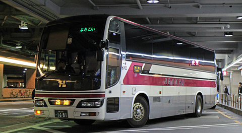 阪急バス「よさこい号」昼行便 高知→大阪 2891号車 乗車記