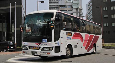 西鉄高速バス「桜島号」3913号車 乗車記 まもなく引退か? (2017年7月乗車分)