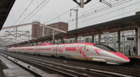 JR西日本「ハローキティ新幹線」(こだま741号 500系V2編成)を見てみる