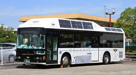 両備ホールディングス「ソラビ(SOLARVE)」 ~世界初太陽光発電バス~