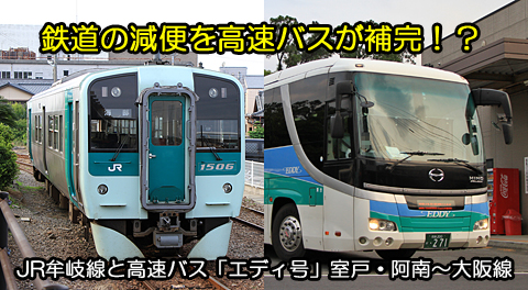 JR牟岐線と高速バス「エディ号」室戸・生見・阿南~大阪線との連携 アイキャッチ用 480