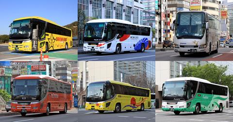 2020年 夜行高速バス運行時間ランキング 480